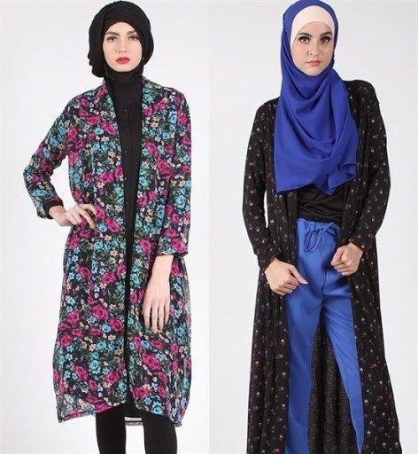 trend model busana muslim cardigan songket terbaru 2017