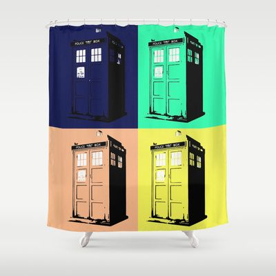 Bring Doctor Who in the shower with this Tardis Shower curtain. (Does not move through the Time-Space Continuum)