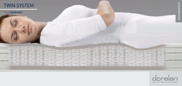 Per chi ama i #materassi a molle ma non vuole rinunciare al massimo dell'innovazione tecnologica, Dorelan ha creato la linea #TwinSystem: materassi che portano la tecnologia a molle indipendenti ai massimi livelli, per offrire un valido supporto ergonomico e un sostegno personalizzato senza rinunciare ad un #comfort sempre eccellente!