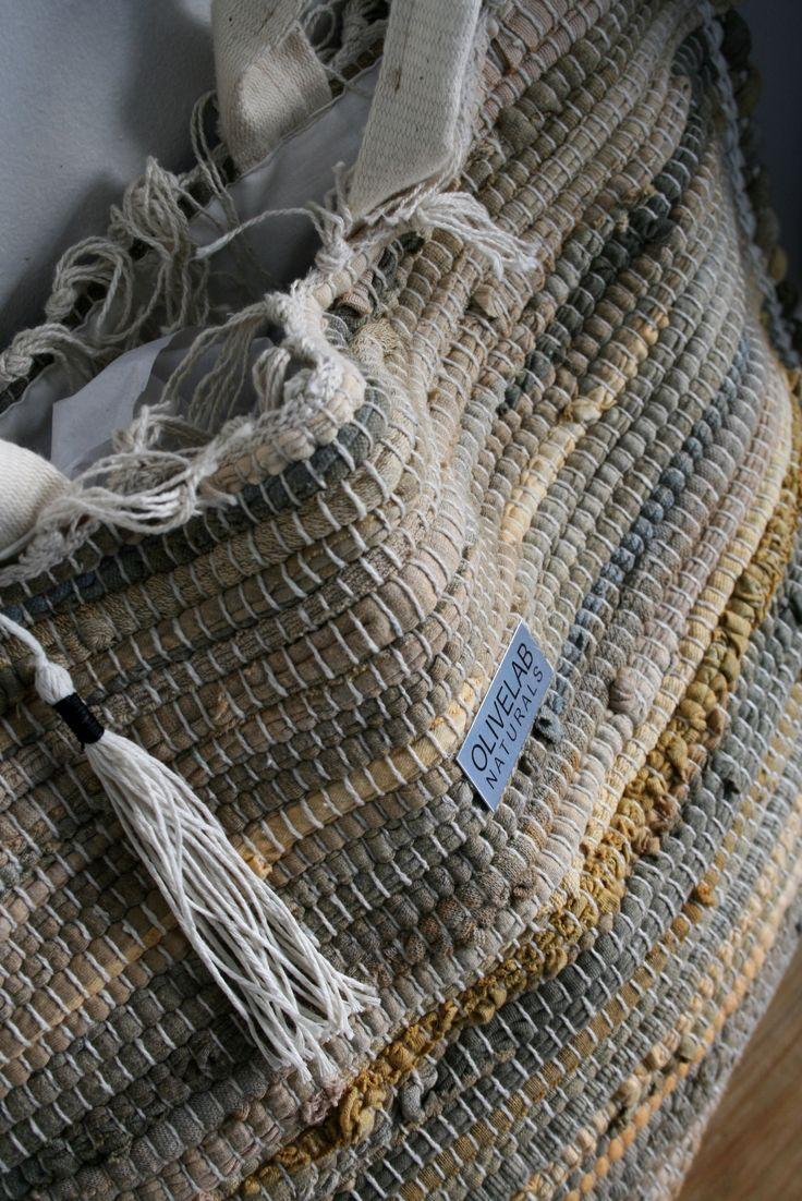 handnade, oversized tote bag made out of kourelou kilim