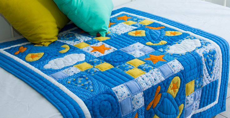 Blue planes #quilt - available in our shops