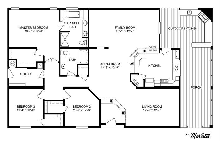 Clayton Homes | Home Floor Plan | Manufactured Homes, Modular Homes, Mobile Home--more ideas