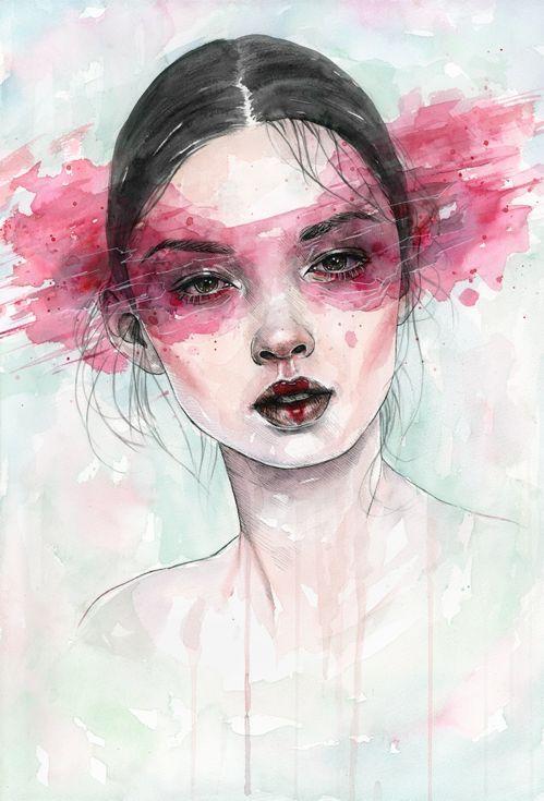 ARTFINDER: Essence by Tomasz Mrozkiewicz - Original watercolor painting