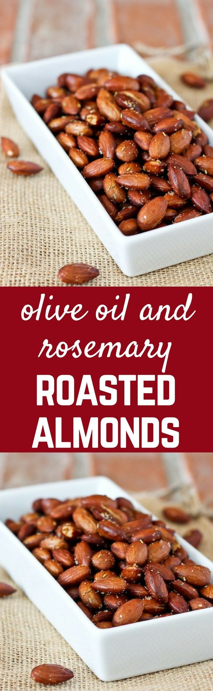 These olive oil and rosemary roasted almonds are an irresistible snack that you…