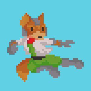 [OC][CC] Fox as he was in Super Smash Bros.