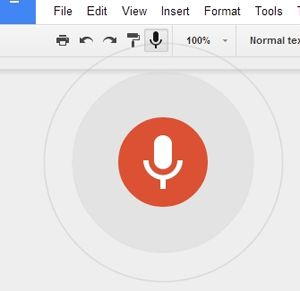 Google is adding voice dictation and voice typing to Google Docs.    A post by Marques Brownlee on Google+ shows screen shots of him seeing the voice button within the Google Docs menu.  He said...