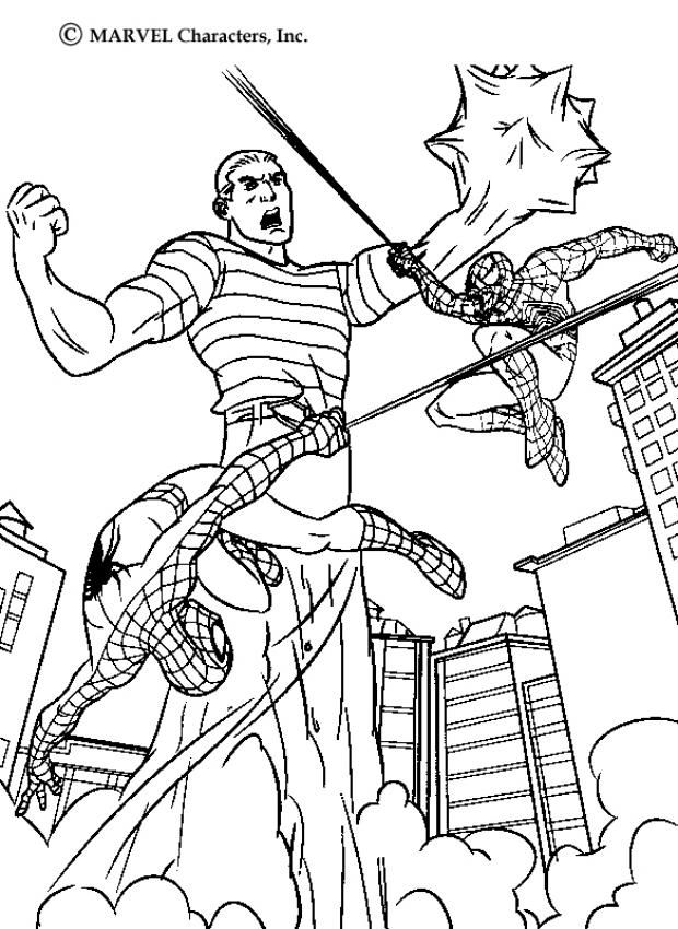 This Fight Action Coloring Page Is Available For Free In Spider