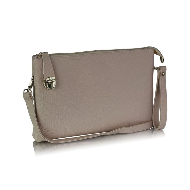 Elegantná listová kabelka je vhodná na nosenie cez rameno alebo v ruke. Kabelka je v jednoduchom jednofarebnom prevedení. Uzatvára sa na zips, pričom zips je poistený na bočnej strane kabelky klipsňou. Kabelka je rozdelená na štyri vnútorné časti (priehradky), pričom vo vnútri je jedno veľké vrecko