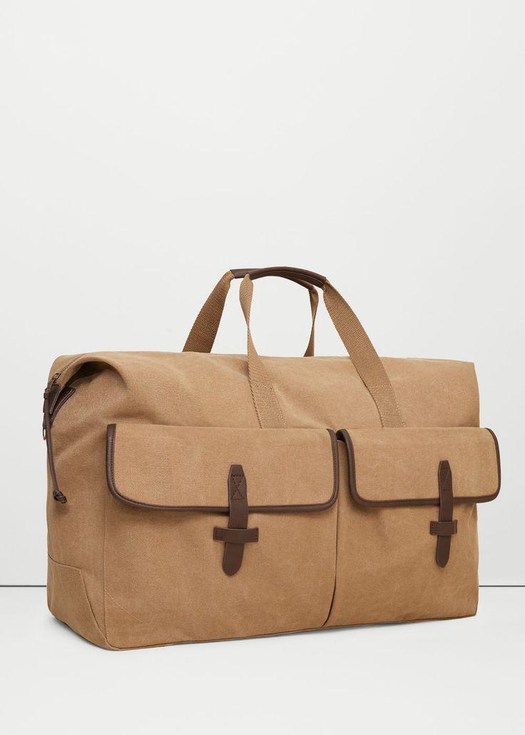Холщовая сумка для уик-энда | MANGO MAN