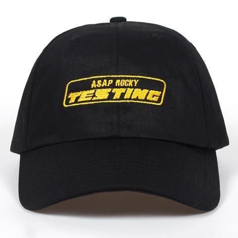 6d3a6a93c8a 2018 New Album ASAP ROCKY TESTING Embroidery Baseball Cap Women Snapback Hat  Adjustable Cap Men Fashion Dad Hats Wholesale