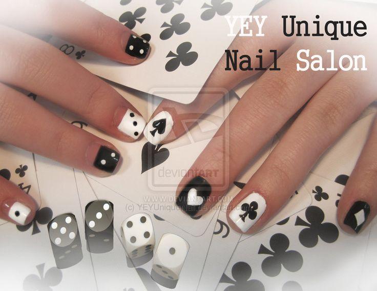 poker and dice nail by ~YEYUniqueNail on deviantART