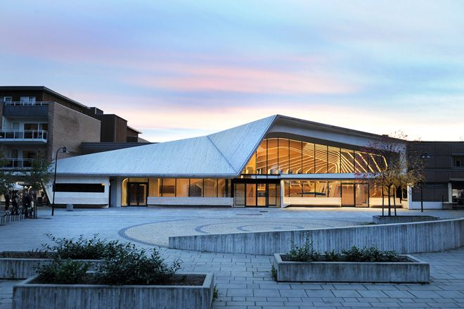 Designed by Helen & Hard, the Vennesla Library and Cultural Centre
