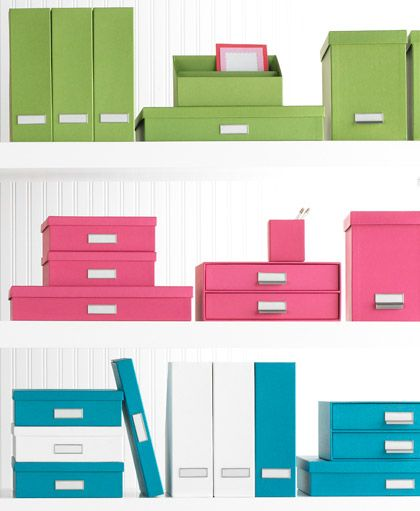 The Container Store U003e Bright Stockholm Office Storage Boxes