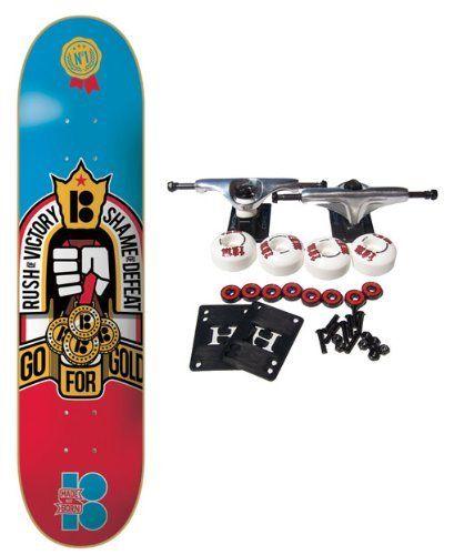 PLAN B Complete Pro Skateboard MEDAL CREST 8.25: Plan B Complete Skateboard Features Brand New Deck, Size 8.25″. Complete components…