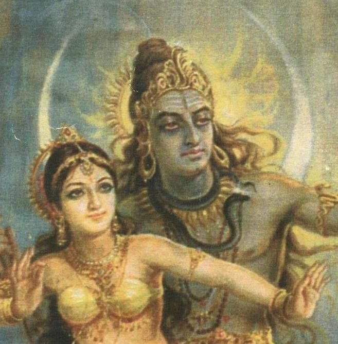 Beautiful version of  Shiva and his consort Parvati