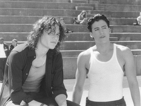 Andrew Keegan and Heath Ledger