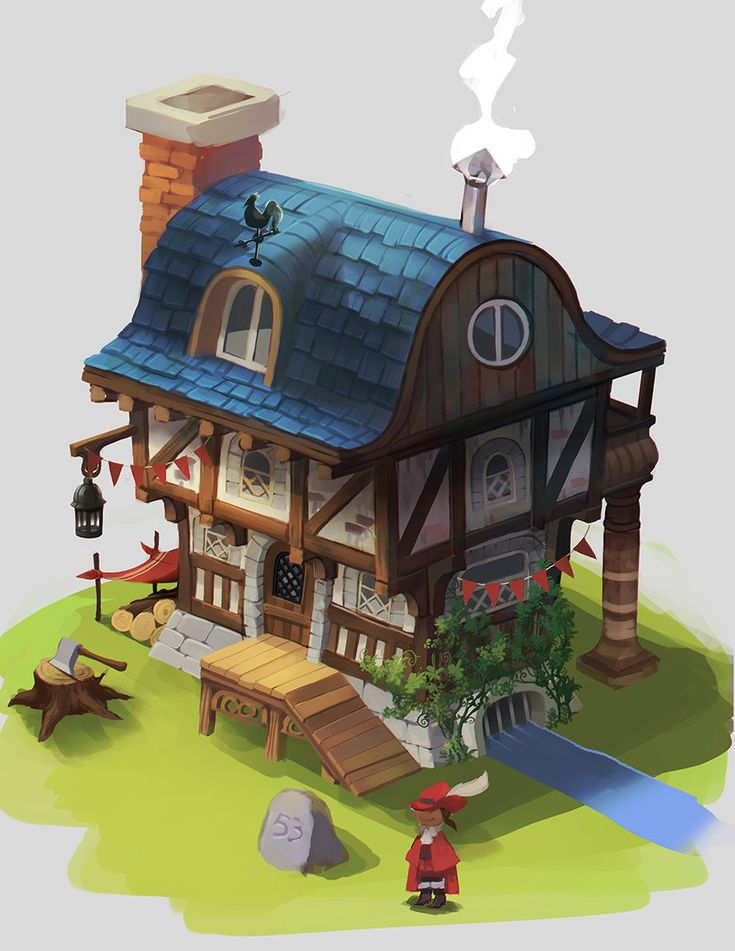 ArtStation - little house, Melanie Bourgeois