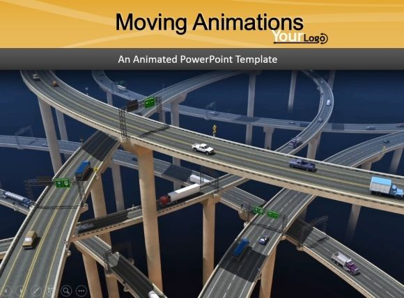 how to add moving animations to presentations