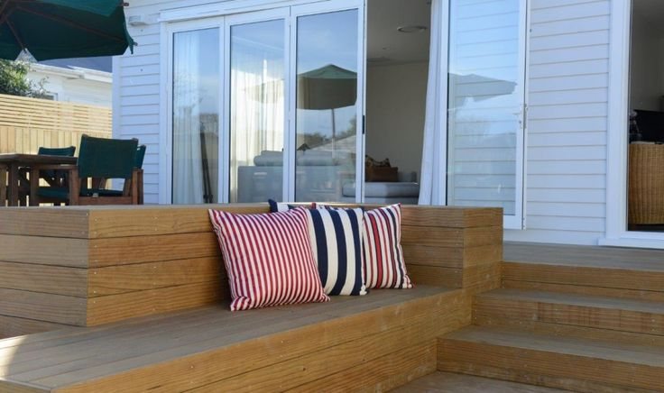 Sand + decking from Abodo - enviro friendly wooden decking