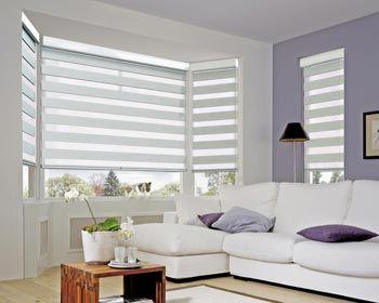 cortinas duo para living cortina roller con tela doble de franjas alternadas