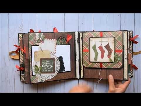 Christmas Time 4 x 6 Mini Album - YouTube