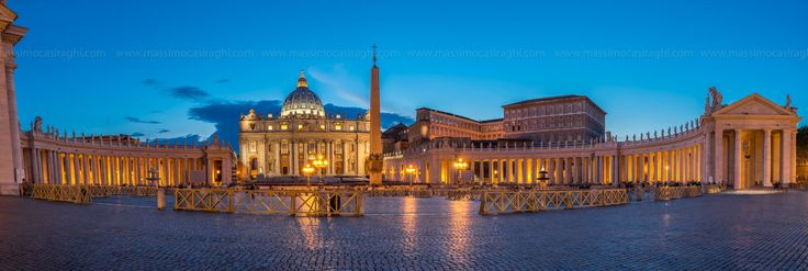 Piazza San Pietro - San Peter square at the Blue Hour Vatican City - Rome - Italy  all right reserved. www.massimocasiraghi.com