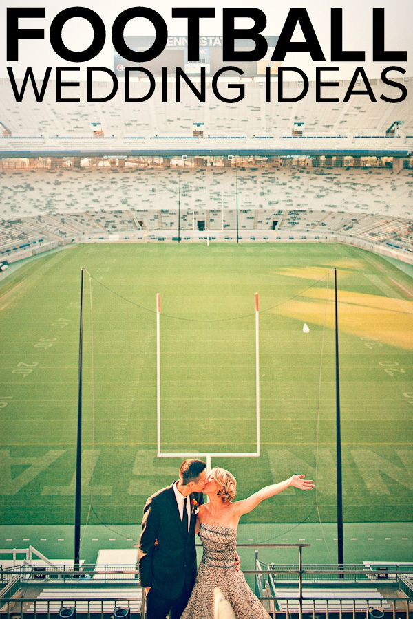 Bring Your A-Game to Your Big Day: Football Wedding Ideas
