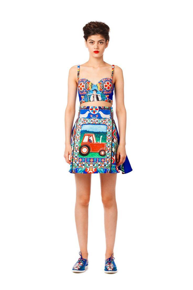 The Tractor Skirt #lana #dumitru #lanadumitru #digitalprint
