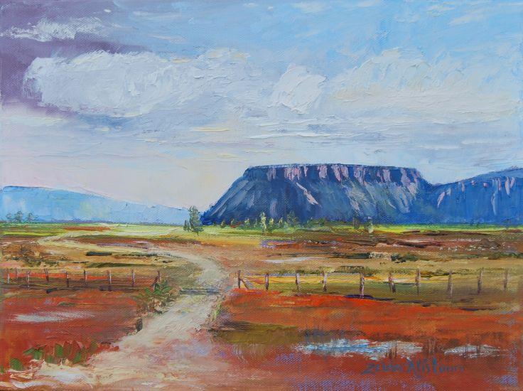 Karoo Peace 30 x 40cm Oil on canvas by Zelda Alistoun paintings