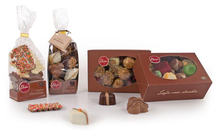 Chocolade van Elvee in een zakje of ballotin