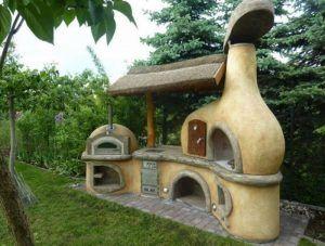 Smurf-like Outdoor Kitchen