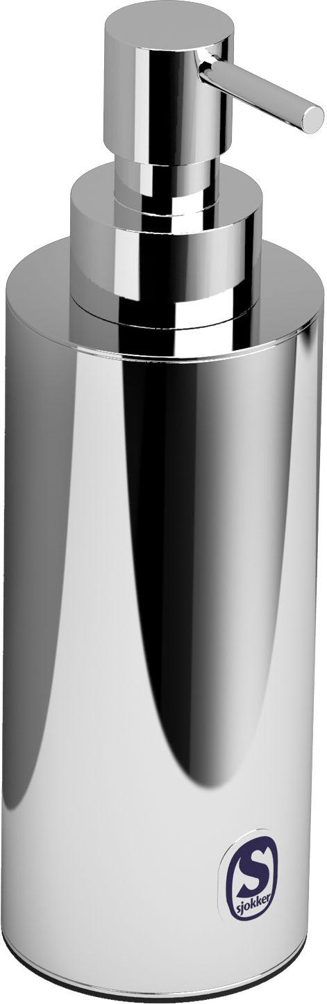 Clou Sjokker zeepdispenser 200cc staand model chroom  Description: Zeepdispenser 200cc staand model chroom. Overdoos van 6 stuksd.65 x h.176 cm ø 55 cm  Price: 60.98  Meer informatie