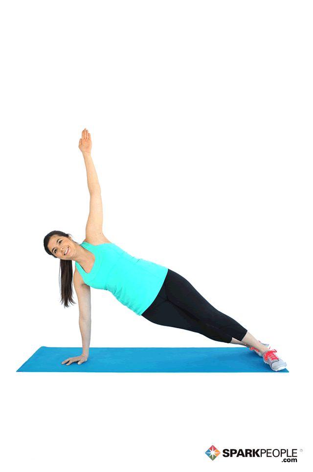 Side Plank Exercise Demonstration via @SparkPeople