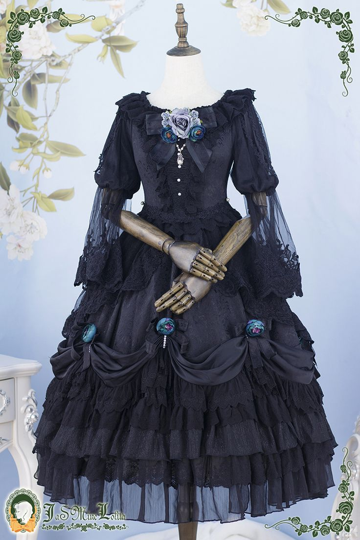 Roses and The Mermaid's Tears Lolita OP Dress