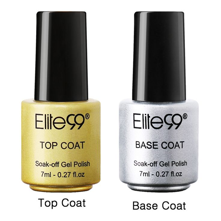 Elite99 Gel Nail Primer 7ml Top Coat Top it off + Base Coat Foundation for UV Gel Polish Best on Ali New Style Nail Lacquer