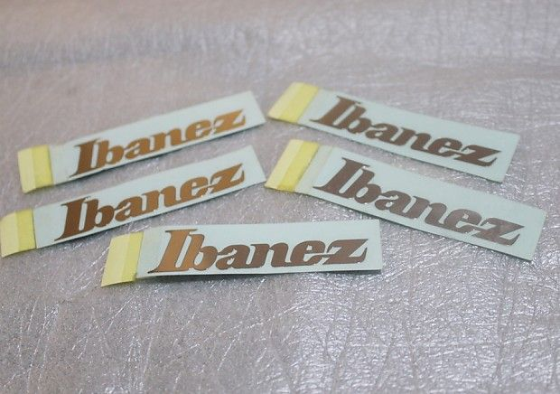 For sale; 5x Genuine Ibanez Guitar Neck Decal (6,7cm x 1,6cm).Using on Ibanez RG series, Ibanez S series, Etc.Payment Policy:PAYPAL Payment must be received within 2 days ofsale close, or Item will be relisted.Please contact us first if you need to file an Extension for any Payment.Shipping Policy:'This ITEM Shipped using Economic'.After Purchase, Please COMPLETE PHONE NUMBER on SHIPPING ADDRESS.Items will be shipped within 2 business days upon receipt of payment, Most orders ship w...