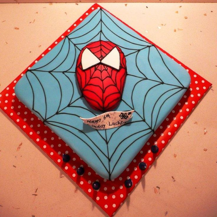 spiderman cake ideas  Easy to do with frosting and a toothpick