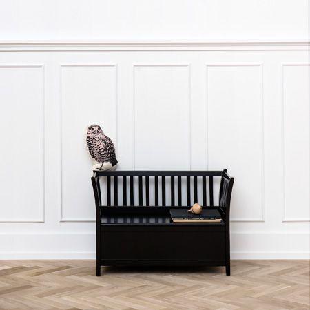 Kids bench, Black - by Oliver Furniture.  www.oliverfurniture.com