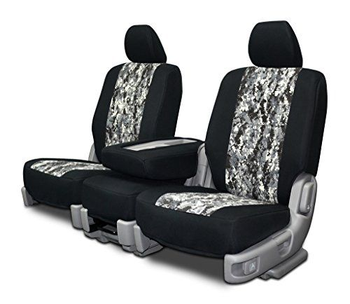 Custom Fit Seat Covers For ChevyGMC Bench Seats  Neoprene  Digital Gray Camo Fabric ** Click image to review more details.