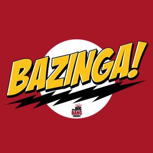 """I <3 The Big Bang Theory!  Saw a car with """"BZINGA"""" as the license plate this weekend.  Cracked me up.  Laughed even harder when we saw the blue footed booby stuffed animal in the back window."""