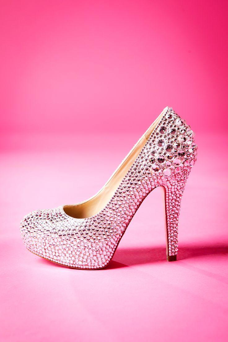 Wedding high heel Swarovski Rhinestone shoe by Crystal Kitten™ & Co.♥ photography by SunStreet Photo♥