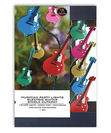 Look what I found on #zulily! Single-Cutaway Electric Guitar LED Party Lights #zulilyfinds