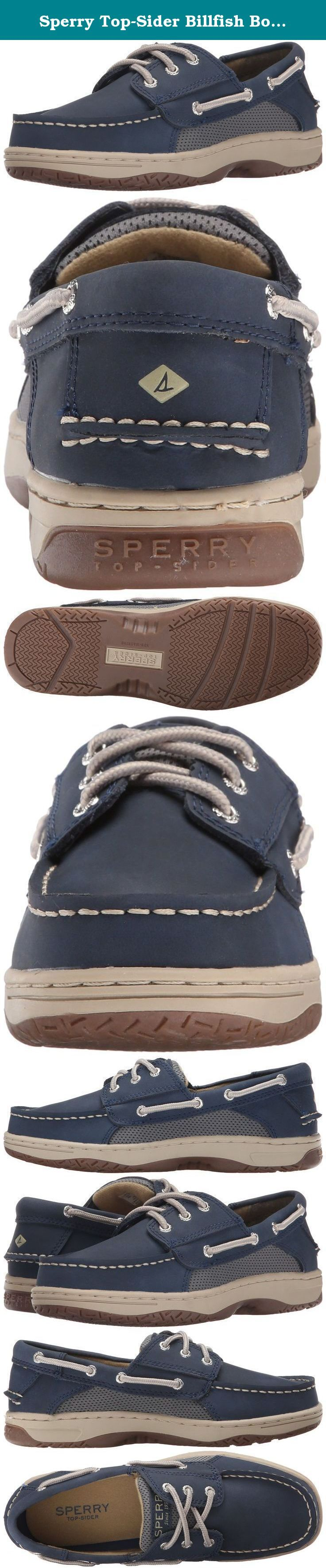 Sperry Top-Sider Billfish Boat Shoe (Little Kid/Big Kid). From the park to the pier, this classic tan Billfish shoe by Sperry Top Sider offers your little man comfort and style. A flexible rubber outsole provides traction.