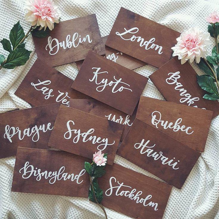 weddingdecor handlettered calligraphy tablenumber asztalszám
