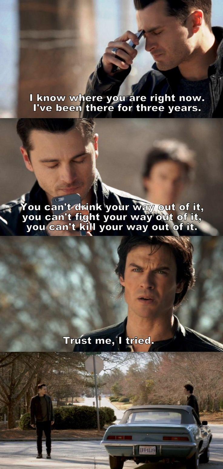The Vampire Diaries TVD 7X20 - Damon and Enzo
