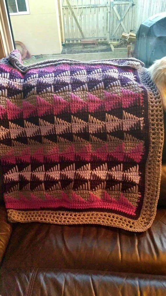 Geometric Purple Paradise throw blanket