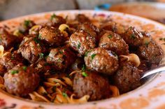 Salisbury Steak Meatballs | The Pioneer Woman Cooks | Ree Drummond~T~ These are delicious served over buttered noodles as in the recipe or with mashed potatoes or brown rice.
