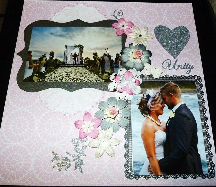 """SCRAPBOOK PAGE 12 X 12 HANDMADE....""""UNITY""""...reduced to $9.99"""