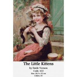 Gobelin Tapestry Kit - The Little Kittens by Emile Vernon