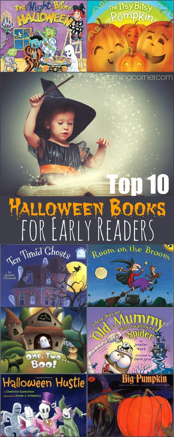 Top 10 Books for Halloween to help Early Readers | ilslearningcorner.com